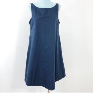 Theory Dacey Navy Tent Trapeze Dress Lagenlook